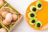 Eggs stuffed with caviar — Stock Photo