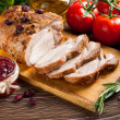 Roasted pork loin with cranberry and rosemary — Stock Photo #49333205