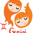 Zodiac Signs Gemini — Stock Vector #41650073