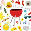 Barbecue Picnic Set — Stock Vector #41929101