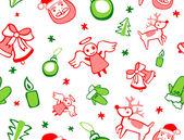 бесшовный рождественский образец — Cтоковый вектор