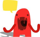 Angry Complaining Monster — Stock Vector