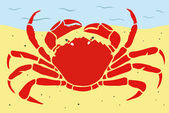Stylish Crab — Stock Vector