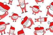 Funny Santas Christmas — Stock Vector