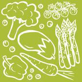 холодный вегетарианский набор — Cтоковый вектор