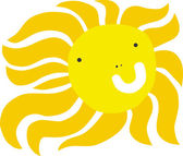 Cool Funny Holiday Sun — Vector de stock