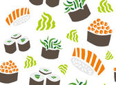 Caviar, Seaweed and Salmon Sushi — Vettoriale Stock