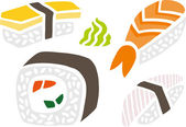 Sushi Set — Stock Vector