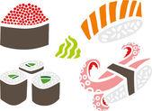 Sushi Set — Stock Vector