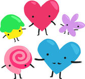 Valentine's Day Characters — Stock Vector