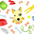 Cute Puppy with Toys — Stock Vector #42204525