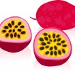 Ripe Passion Fruit Illustration — Stock Vector #42204759