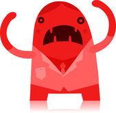 Business Man Monster — Stock Vector