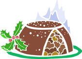 Christmas Pudding — Stock Vector
