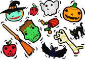 Halloween Characters Set — Stock Vector