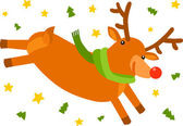 Christmas Deer — Stok Vektör