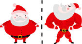 Fat and Fit Santa — Stock Vector