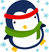 Christmas Penguin — Stock Vector
