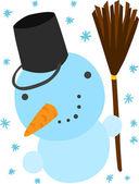 圣诞雪人 — 图库矢量图片