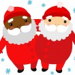 Two Friendly Santas — Stock Vector #44415035