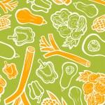 Vegetables set texture — Stock Vector #44415183