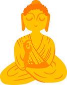 佛祖铜像 — 图库矢量图片