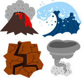 Extreme Weather Set — Stock Vector