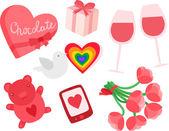 Valentine's Day Set — Vetor de Stock