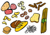 Carbohydrate Foods — Vetorial Stock