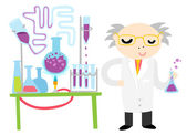 Scientist Conducting — Stock Vector