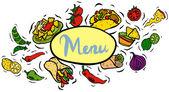 Comida mexicana — Vetor de Stock