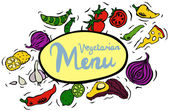 Vegetarian Ingredients — Stock Vector