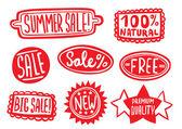 Verkoop stickers — Stockvector