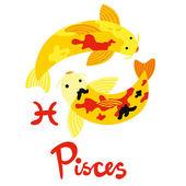 Zodiac Sign Pisces — Stock Vector