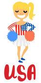 American Cheerleader — Stock vektor