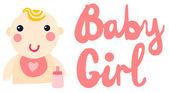 Baby Girl — Stock Vector