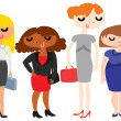 Group of Business Ladies — Stock Vector #50474993