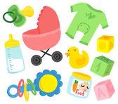 Cute Baby Stuff Set — Stock Vector
