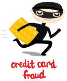 Credit Card Theft — Stock Vector
