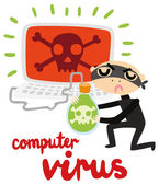 Modern Day Crimes: Computer Virus — Stock Vector