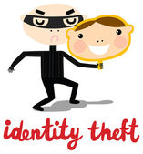 Identity Theft Criminal — Stock Vector