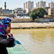 Stock Photo: Iraqi girl looks at Tigris River