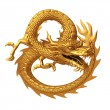 Golden chinese dragon pose — Stock Photo #42636369