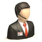 Business people with head set — Stock Photo