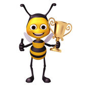 Bee with trophy — Stockfoto