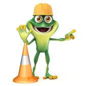Frog work — Stock Photo