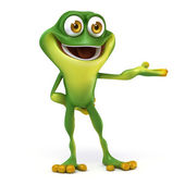 Frog show pose — Stock Photo