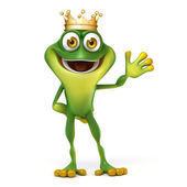 Frog with crown — Stock Photo