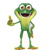 Frog thumb up — Stockfoto