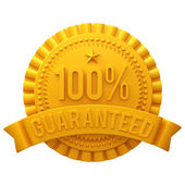3d golden illustration badge — Foto Stock